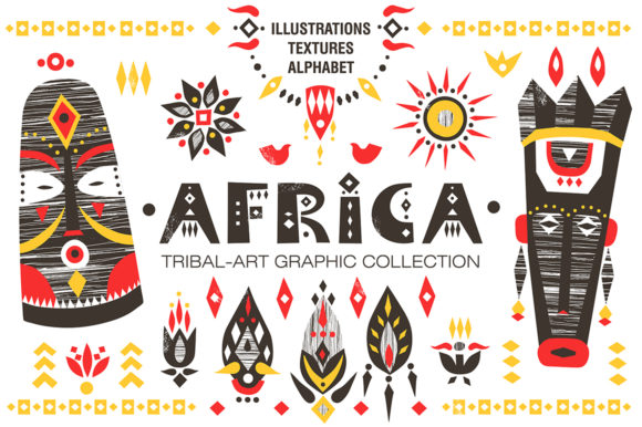 Download Free Africa Tribal Art Collection Graphic By Struvictory Creative for Cricut Explore, Silhouette and other cutting machines.