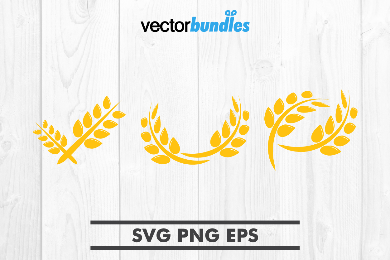 Download Free Agriculture Wheat Clip Art Graphic By Vectorbundles Creative for Cricut Explore, Silhouette and other cutting machines.