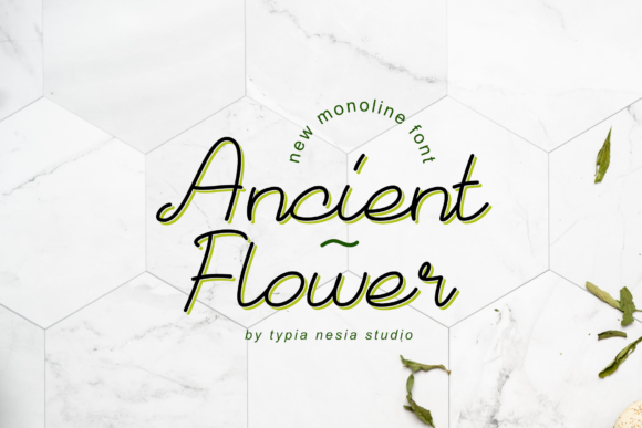 Print on Demand: Ancient Flower Script & Handwritten Font By Typia Nesia