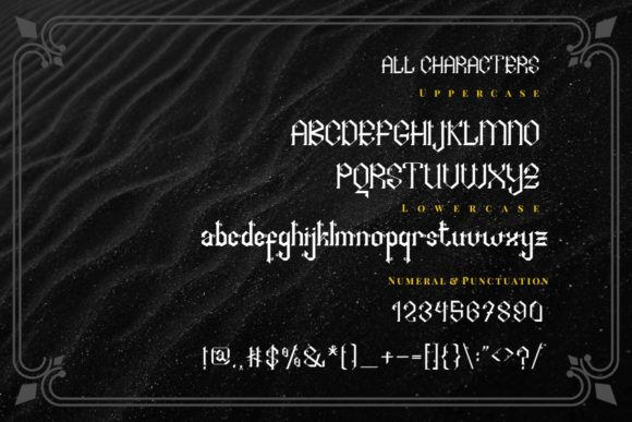Print on Demand: Arshaka Blackletter Font By putracetol - Image 4
