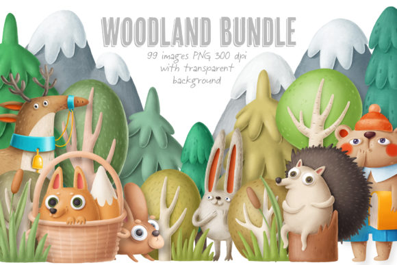 Print on Demand: BIG Woodland Bundle Gráfico Ilustraciones Por Architekt_AT