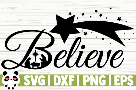 Download Free Believe Nativity Scene Graphic By Creativedesignsllc for Cricut Explore, Silhouette and other cutting machines.