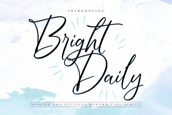 Print on Demand: Bright Daily Script & Handwritten Font By Vunira