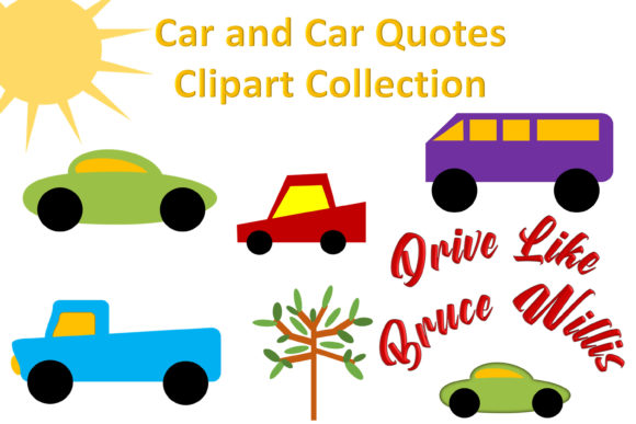 Print on Demand: Car Clipart and Car Quotes PNGs Graphic Illustrations By The Paper Princess