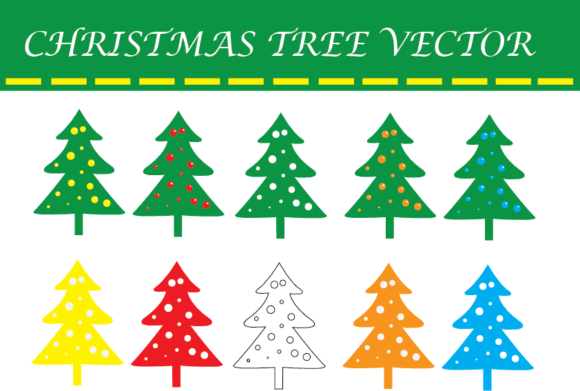 Christmas Tree Vector Graphic By Evand Creative Fabrica