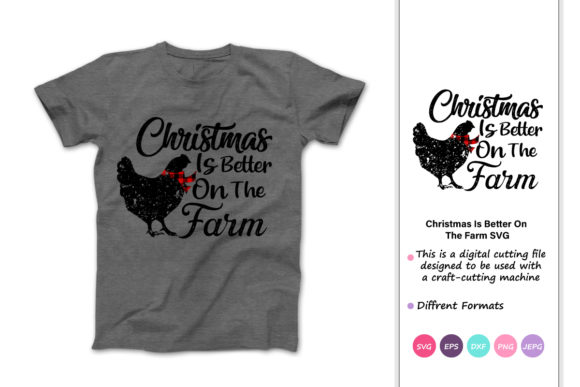 Print on Demand: Christmas is Better on the Farm Graphic Crafts By iprintasty