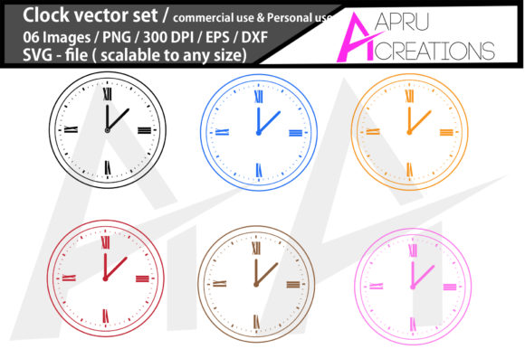 Download Free 1 Clock Png Designs Graphics for Cricut Explore, Silhouette and other cutting machines.