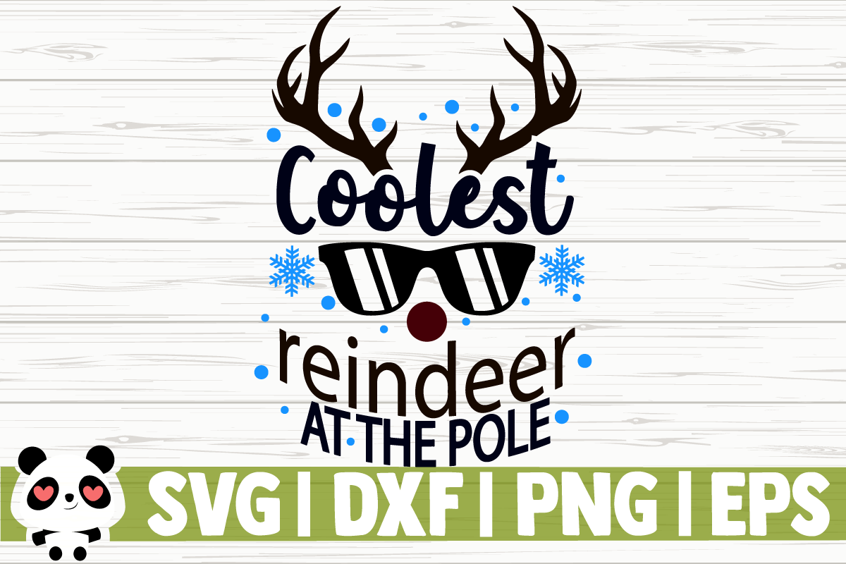 Download Free Coolest Reindeer At The Pole Grafico Por Florentina Buzunar89 for Cricut Explore, Silhouette and other cutting machines.
