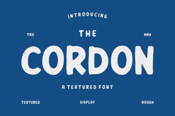 Print on Demand: Cordon Display Font By Garisman Studio