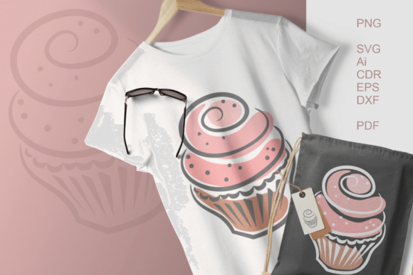 Print on Demand: Cupcakes Clipart Gráfico Crafts Por print.cut.hang