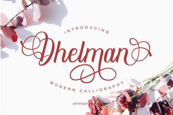 Print on Demand: Dhelman Script Script & Handwritten Font By ahweproject