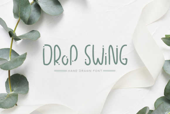Print on Demand: Drop Swing Sans Serif Font By Happy Letters