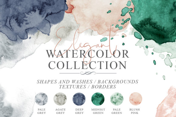 Elegant Watercolor Backgrounds Graphic