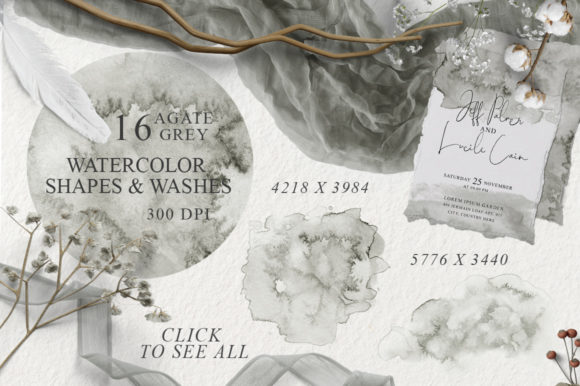 Elegant Watercolor Backgrounds Graphic Preview