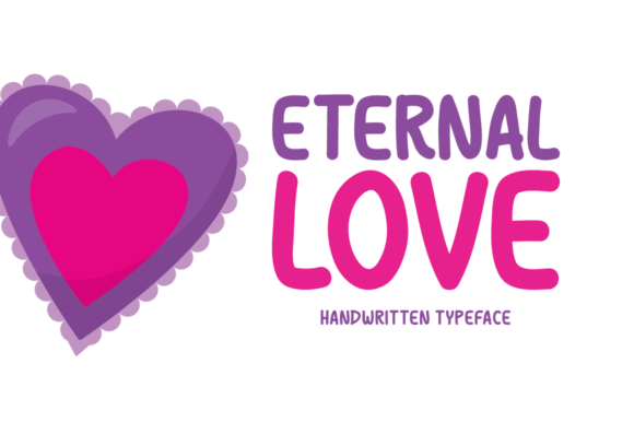 Print on Demand: Eternal Love Display Font By Instagram Fonts