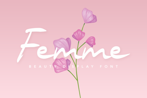 Print on Demand: Femme Display Font By peterdraw