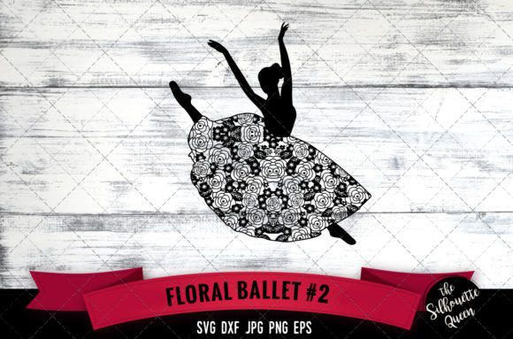 Floral Ballet 2 Graphic Crafts By thesilhouettequeenshop