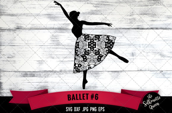 Floral Ballet 6 Graphic Crafts By thesilhouettequeenshop