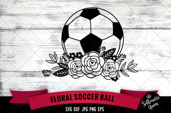 Floral Soccer Graphic Crafts By thesilhouettequeenshop