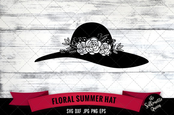 Download Free Floral Summer Hat Graphic By Thesilhouettequeenshop Creative for Cricut Explore, Silhouette and other cutting machines.
