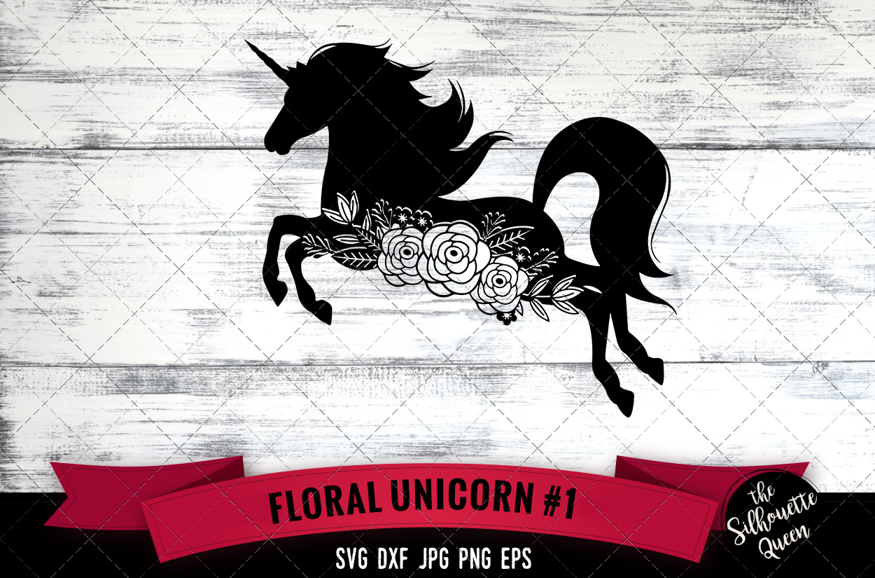 Download Free Floral Unicorn 1 Graphic By Thesilhouettequeenshop Creative for Cricut Explore, Silhouette and other cutting machines.