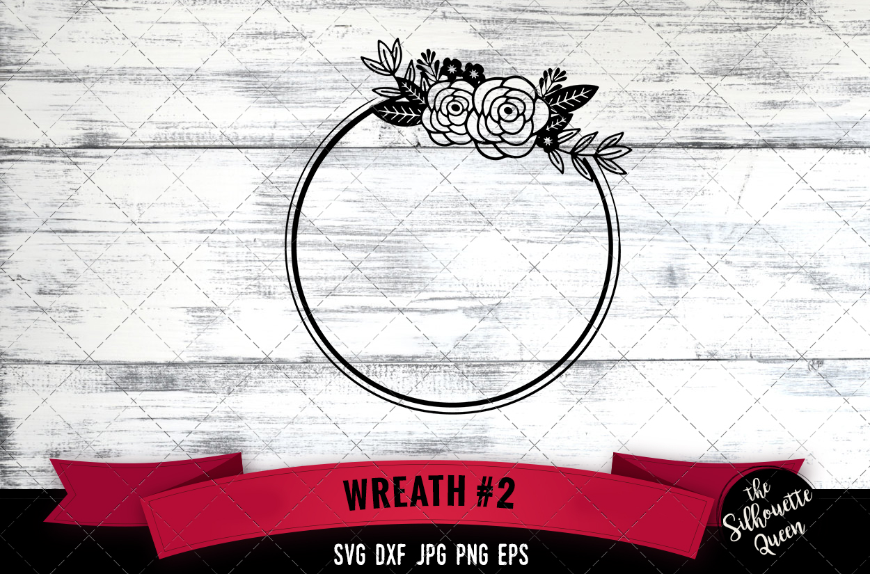 Download Free Floral Wreath 2 Graphic By Thesilhouettequeenshop Creative Fabrica for Cricut Explore, Silhouette and other cutting machines.