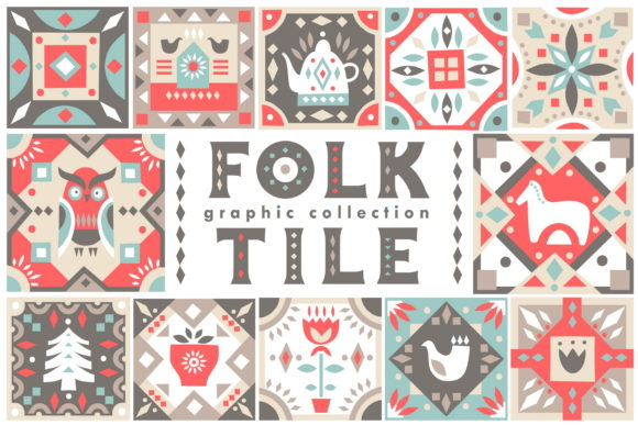 Print on Demand: Folk Tile - Graphic Collection Graphic Illustrations By struvictory - Image 1