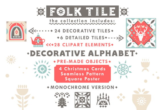 Print on Demand: Folk Tile - Graphic Collection Graphic Illustrations By struvictory - Image 2