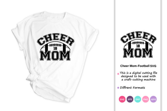 Print on Demand: Football Mom Cheer Mom Football Graphic Crafts By iprintasty