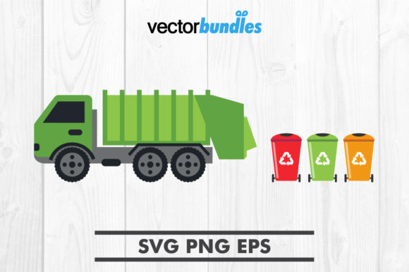 Download Free Garbage Truck Clip Art Graphic By Vectorbundles Creative Fabrica for Cricut Explore, Silhouette and other cutting machines.