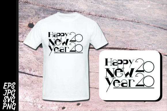 Print on Demand: Happy New Year 2020 SVG Graphic Crafts By Arief Sapta Adjie - Image 1