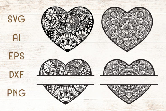 Download Free Heart Mandala Graphic By Dasagani Creative Fabrica for Cricut Explore, Silhouette and other cutting machines.