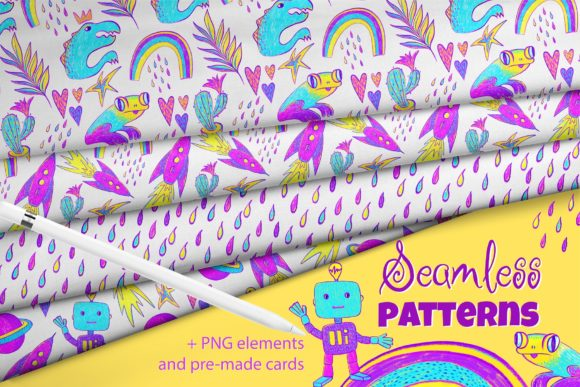 Hello, World! Kid's Patterns Graphic Patterns By MarynArts
