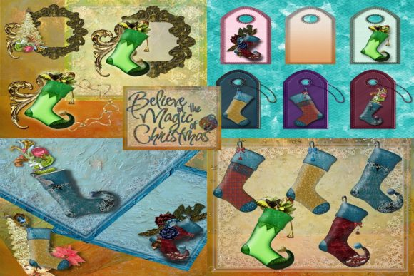 Holiday Christmas Hangings Graphic Illustrations By AHDesign
