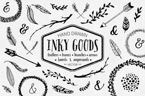 Inky Goods Vector Graphics Graphic Illustrations By dinaramay