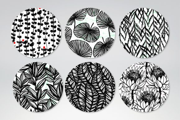 Inky Plants - 15 Botanical Patterns Graphic Patterns By MarynArts - Image 3