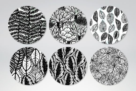 Inky Plants - 15 Botanical Patterns Graphic Patterns By MarynArts - Image 4