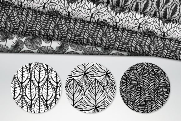 Inky Plants - 15 Botanical Patterns Graphic Patterns By MarynArts - Image 5