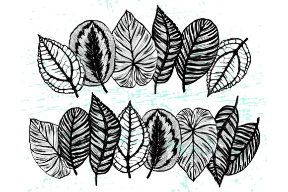 Inky Plants - 15 Botanical Patterns Graphic Patterns By MarynArts - Image 8
