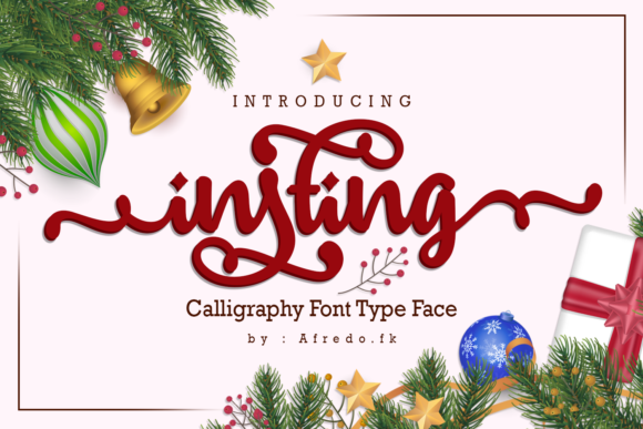 Print on Demand: Insting Script & Handwritten Font By afredo.fk