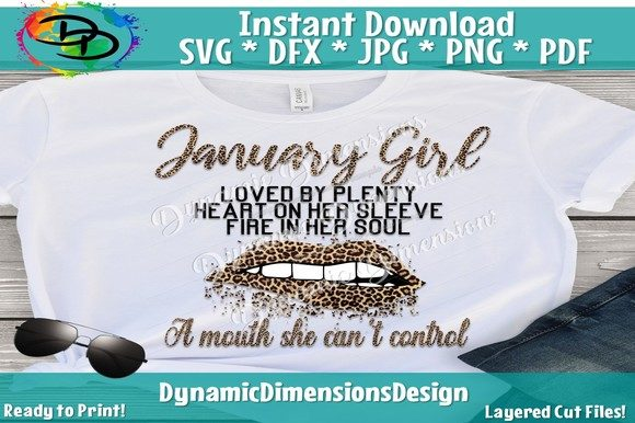 Print on Demand: January Girl Svg, January Birthday Bday Graphic Crafts By dynamicdimensions