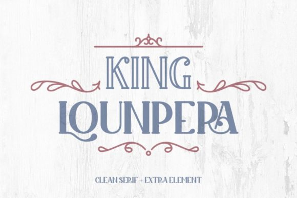 Print on Demand: King Lounpera Display Font By Yumna_Type