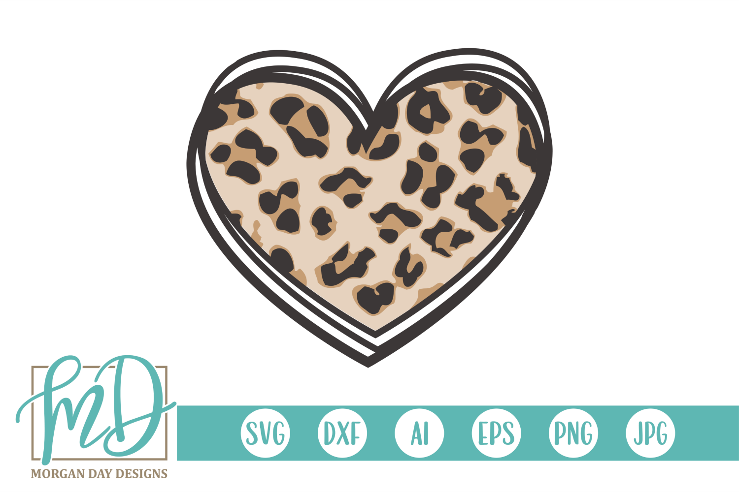 Download Free Leopard Heart Graphic By Morgan Day Designs Creative Fabrica for Cricut Explore, Silhouette and other cutting machines.