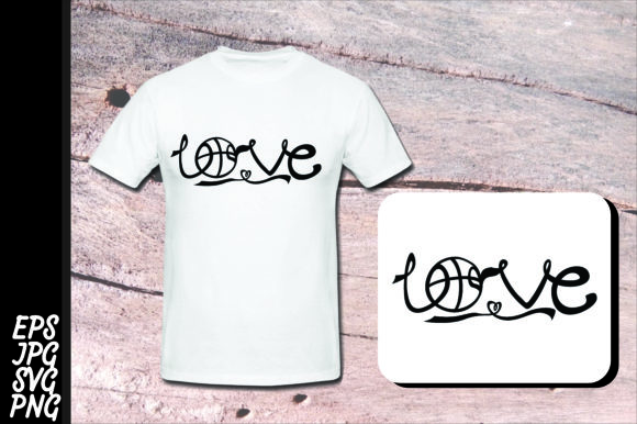 Download Free Love Basketball Graphic By Arief Sapta Adjie Creative Fabrica for Cricut Explore, Silhouette and other cutting machines.