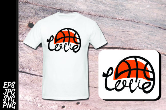 Print on Demand: Love Basketball SVG Gráfico Crafts Por Arief Sapta Adjie