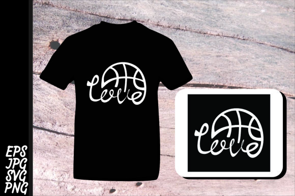 Download Free Love Basketball Svg Graphic By Arief Sapta Adjie Creative Fabrica for Cricut Explore, Silhouette and other cutting machines.