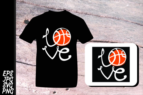 Print on Demand: Love Basketball SVG Graphic Crafts By Arief Sapta Adjie