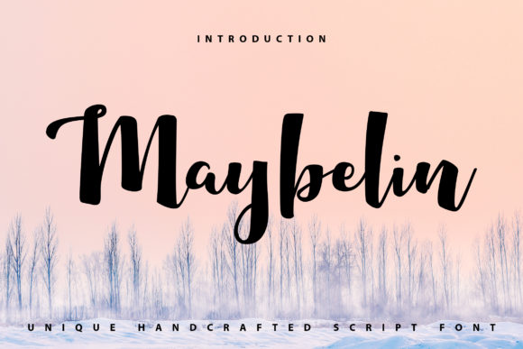Print on Demand: Maybelin Script & Handwritten Font By Vunira