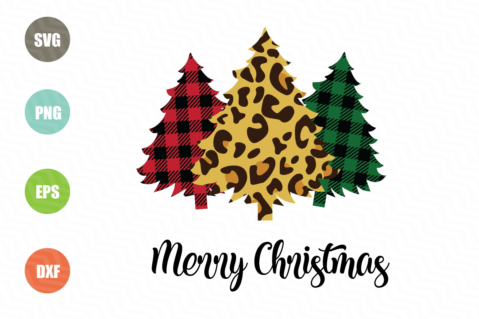 Download Free Merry Christmas Christmas Trees Graphic By Logotrain034 for Cricut Explore, Silhouette and other cutting machines.