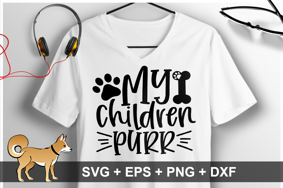 Download Free My Children Purr Svg Graphic By Orindesign Creative Fabrica SVG Cut Files